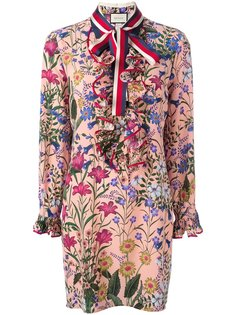 платье с цветочным принтом Gucci