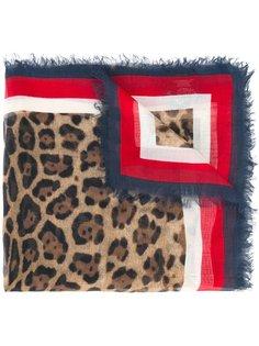 шейный платок с леопардовым принтом  Gucci