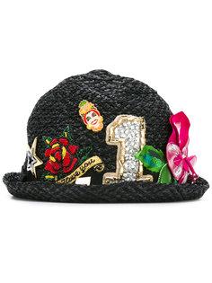 декорированная шляпа из рафии Dolce & Gabbana