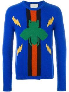 свитер с принтом жука Gucci