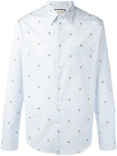 рубашка с вышивкой пчел Gucci