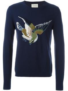 свитер с изображением птицы  Gucci
