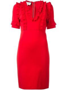 платье с рюшами Gucci
