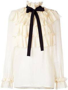 блузка с рюшами Gucci