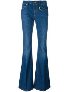 расклешенные джинсы с вышивкой Gucci