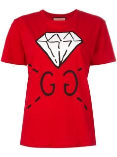 футболка с принтом-логотипом Gucci