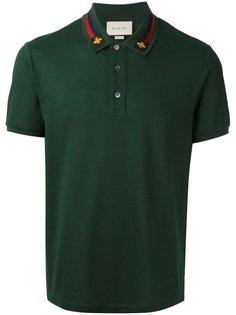 футболка-поло с вышивкой House Web  Gucci