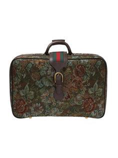 чемодан из гобеленового полотна с узором Gucci