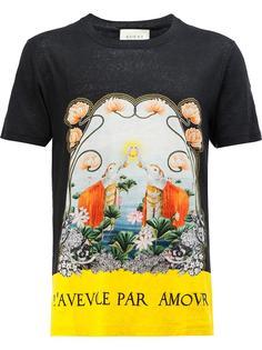 "футболка с принтом ""Water Lilies"" Gucci"