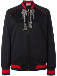 куртка-бомбер с блестящей отделкой Gucci