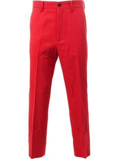 укороченные зауженные брюки Gucci