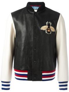 куртка-бомбер с аппликацией в виде пчелы  Gucci