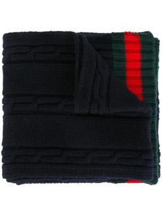 шарф с отделкой Web Gucci