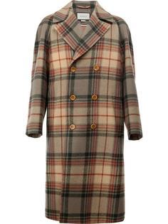 пальто в клетку Gucci