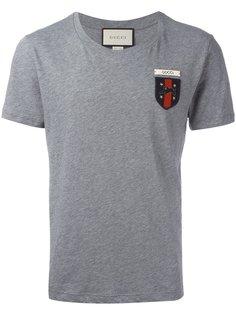 футболка Web с принтом герба Gucci