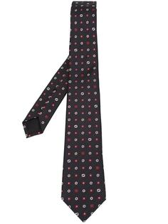 галстук с мелким цветочным узором Gucci