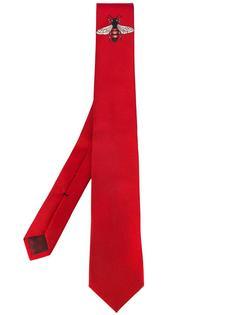 галстук с вышитой пчелой Gucci