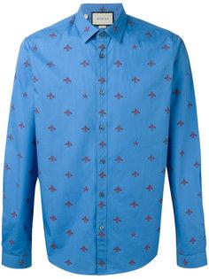 рубашка с принтом пчел Gucci