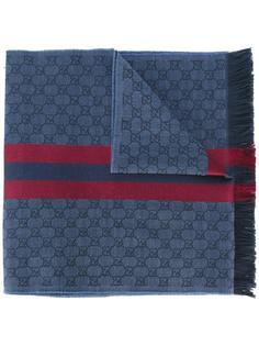 жаккардовый шарф с принтом Web Gucci