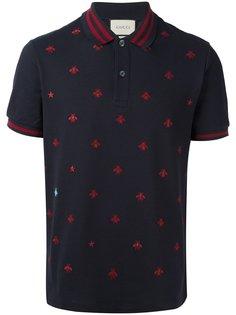 футболка-поло с принтом пчел Gucci
