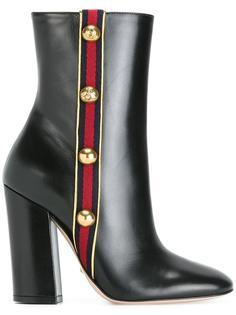 ботинки с деталью в полоску Gucci