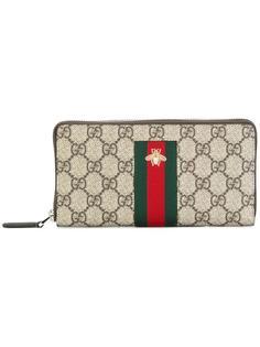 континентальный кошелек Web GG Supreme Gucci