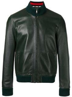 кожаная куртка-бомбер Gucci