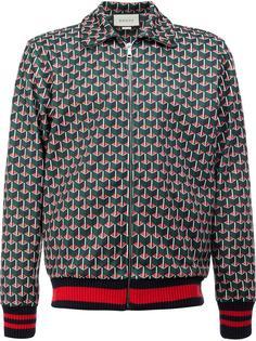 куртка бомбер с геометрическим узором Gucci