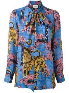 блузка с бенгальским тигром Gucci