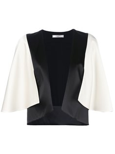 двухцветный пиджак кроя кейп  Lanvin