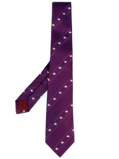 галстук в диагональную полоску Gucci