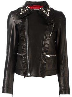 байкерская куртка с заклепками Gucci
