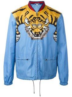 куртка-бомбер с принтом тигра Gucci