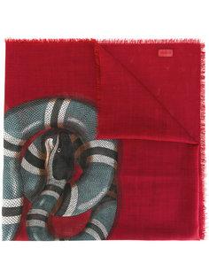 шарф с принтом змеи Gucci