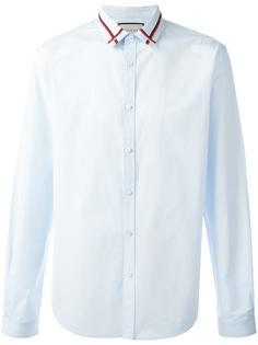 поплиновая рубашка с вышивкой на воротнике  Gucci