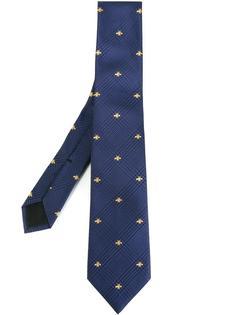 галстук с вышивкой пчел Gucci
