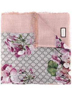 шарф с цветочным принтом Gucci