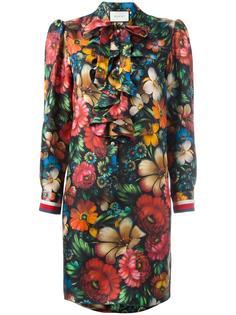 платье с пышными воланами на вороте Gucci