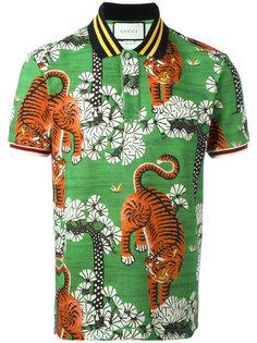 футболка-поло с принтом Бенгальских тигров Gucci