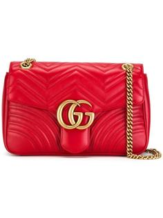 сумка на плечо с откидным клапаном Gucci