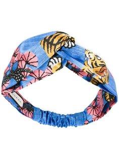 повязка для волос с принтом тигров Gucci