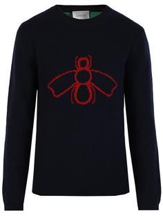 свитер с принтом пчелы  Gucci
