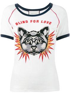 футболка с вышивкой Blind For Love Gucci