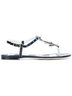 сандалии с украшением в виде якоря Dolce & Gabbana