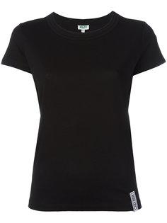 футболка с круглым вырезом в рубчик  Kenzo