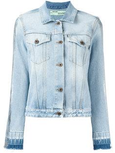 джинсовая куртка с принтом Off-White