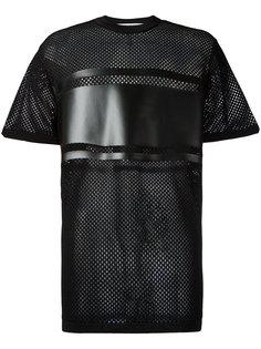 сетчатая футболка с панельным дизайном Givenchy