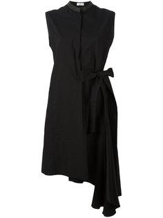 асимметричное платье с запахом Brunello Cucinelli