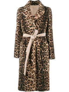 леопардовое пальто из овчины Yves Salomon