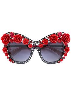 солнцезащитные очки в декорированной оправе Dolce & Gabbana